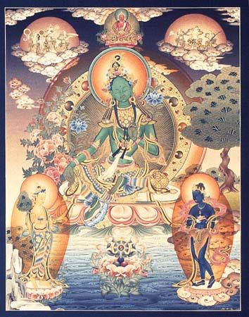 Artwork of Green Tara - Buddhism