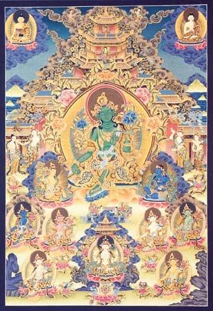 Twentyone Tara Art - Buddhism