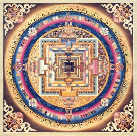 Kalachakra Mandala created by a Tibetan Monk