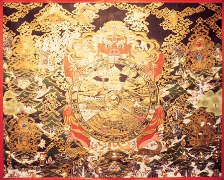 A Wheel of Life - Tibetan Buddhist Art