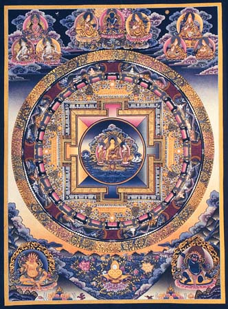 Shakya Muni Buddha Mandala - Tibetan Buddhist Art