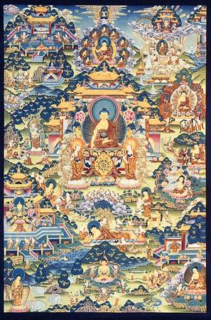 Artwork depicting Buddha's life history