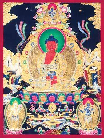 Amitva Buddha artwork from Tibet