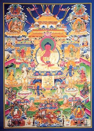 Amitaba Buddha - Sacred Art from Tibet